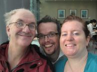 With Fleur's second cousin, Phillip in Cardiff