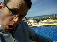 Dancing by the pool in Spain