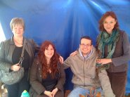 With good friends in Northampton, Susan, Vicky, Ramin and Beverly