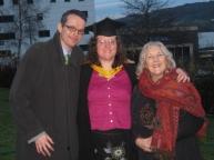 Fleur's MA graduation with Ramin, Fleur and Rita (Fleur's Mum)