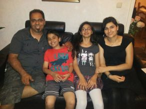 Shapour, Anita and kids